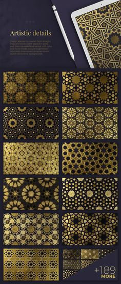 200 Islamic Ornaments collection by Samolevsky Art on can find islamic art and more on our Islamic Ornaments collection. Islamic Art Pattern, Arabic Pattern, Pattern Art, Pattern Design, Geometric Background, Geometric Art, Arabesque, Motifs Islamiques, Celtic Art