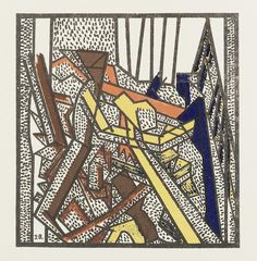 David Bomberg (British, 1890-1957) Russian Ballet The set of six lithographs printed in colours, 1919, on wove, with text verso, as included in the booklet of the same title, published by The Bomb Shop (Hendersons), London, 218 x 140mm (8 1/2 x 5 1/2in)(SH)