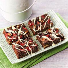 Strawberry Fudge Brownies 27 carbs diabetic friendly
