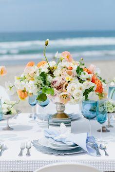 Soft, romantic beach wedding inspiration