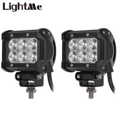 2Pcs Car Light 9-30V 18W 6500K 1800LM 4WD Car LED Work Light ATV Off-road Driving Floodlight/Spotlight Lamp Car Styling