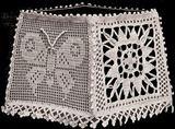Vintage Crochet Lampshade Lamp Shade Butterfly PATTERN FiletCandleshade