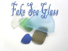 Fake Sea Glass ~ What you'll need: glass - your choice of colors, dish soap, a rag and white spirit, a hammer, gloves and eye protection, cement mixer - yes...really, water, salt, sand and time, 4-5 hours.