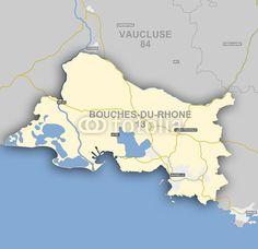 Carte et situation du département des Bouches du Rhône