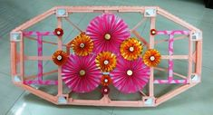 How to make thermocol decorative temple - Simple Craft Ideas Paper Rosettes, Paper Flowers, Stationary Store, Art Articles, Drawing Skills, Paper Design, Garden Furniture, Easy Crafts, Temple