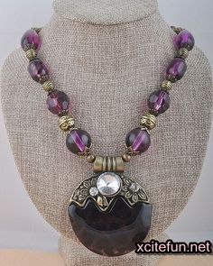 Chunky pendant long necklaces