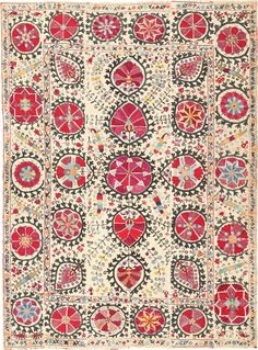 Antique Suzani Embroidery 47244 Main Image - By Nazmiyal