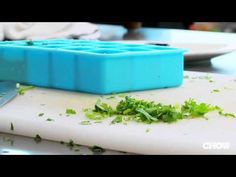 How to Save Herbs by Freezing - YouTube