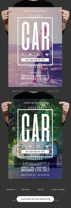 Classic Car Show Flyer  — PSD Template #auto flyer • Download ➝ https://graphicriver.net/item/classic-car-show-flyer/18483241?ref=pxcr