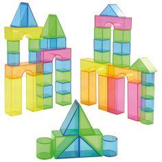 Eduplay, Transparentblocks Leuchtend bunte Bausteine für Kindergarten und Tagestätten | 120301 / EAN:4260372710105