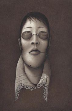 Illustration originale de Rébecca Dautremer - Démon | Oeuvres | Galerie Robillard