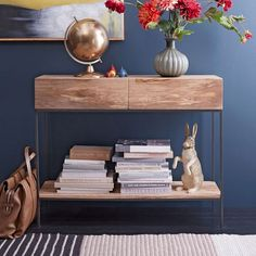 Industrial Storage Console | west elm | thought this may be a more affordable alternative to a credenza $399