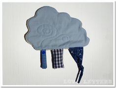 Schmusetücher - Schmusetuch Knistertuch Schnuffeltuch Wolke blau - ein Designerstück von Love_Letters bei DaWanda