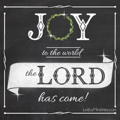 Joy to the world the Lord has come!  {From the blog post - Christmas > cancer