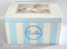 Items similar to Baby memory box, baby keepsake personalized, baptism gift for a boy or girl on Etsy Baby Memories, Baby Keepsake, Baptism Gifts, Toy Chest, Storage Chest, Boy Or Girl, Decoupage, Children, Handmade Gifts