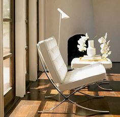 Barcelona Chair-White Leather
