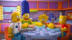 Die Simpsons aus Lego.