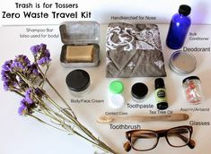 Trash is for Tossers: Zero Waste Travel Kit. - Amy Staff - Trash is for Tossers: Zero Waste Travel Kit. Trash is for Tossers: Zero Waste Travel Kit. Reduce Waste, Zero Waste, Green Living Tips, Raw Living, Natural Living, Simple Living, Waste Reduction, Reduce Reuse Recycle, Upcycle