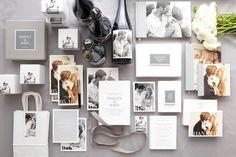 Gray wedding invites-- cute!