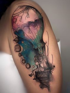 Looking for watercolor tattoos? So, take a look at our article. Here are stunning watercolor tattoo designs and ideas. The combination of watercolor and tattoo is really a genius idea. Cancer Tattoos, Key Tattoos, Girly Tattoos, Life Tattoos, Hand Tattoos, Tattoo Ink, Space Tattoos, Skull Tattoos, Tatoos