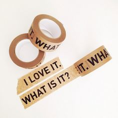 """Perfect """"I love it. What is it?"""" Paper Tape. The Tape can be teared by hand, but is strong enough to close cardboard boxes."""
