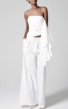 Rosie Assoulin Spring/Summer 2014 Trunkshow Look 1 on Moda Operandi (Neala sez: i think i just discovered my new Whites designer. Runway Fashion, Fashion Show, Fashion Design, White Fashion, Costume, Passion For Fashion, Ready To Wear, Style Inspiration, Spring 2014