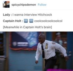 by Kai-Riin Kanarbik 🦁 about Brooklyn Nine-Nine Brooklyn Nine Nine Funny, Brooklyn 9 9, Stupid Funny, The Funny, Hilarious, Funny Stuff, Random Stuff, Funny Memes Images, Funny Pictures