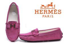 Hermes Ladies Moccasin Pink