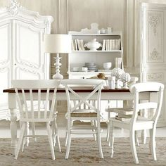 All White Rooms Painting Mixed Match Chairs In The Same Color Unifies Look This Dining Room Could Stand Like