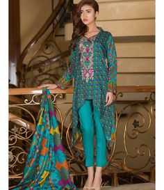 Signature Icon Embroidered Lawn Collection 2016 ZS_8B