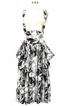 VINTAGE : NORMA KAMALI 80s Flower Print Skirt