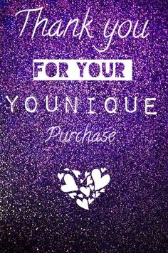 Thank you for your Younique purchase! Order! Purple glitter flash sale closed