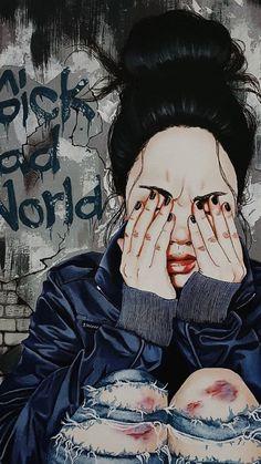 Girl Wallpaper - My Walpaper Art And Illustration, Girly Drawings, Cool Art Drawings, Art Sketches, Art Anime Fille, Anime Art Girl, Art Du Croquis, Sad Art, Girl Wallpaper