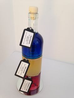 750ml Stacker - Each bottle can be filled with a different flavour to add to your favourite cocktail.  Look great stacked on top of each other.