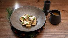 Mushroom Tortellini En Brodo Mushroom Broth, Mushroom Pasta, Master Chef, Tortellini In Brodo, Masterchef Recipes, Parmesan Rind, Stuffed Mushrooms, Stuffed Peppers