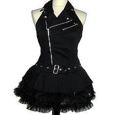 TRIPP MOTO CORSET DRESS L - Goth Punk Emo Clothing, Hell Bunny, Iron Fist Clothing. Emo Gothic Punk Rock Clothing & Accessories