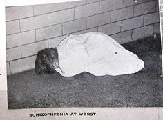 """""""Schizophrenia at Worst"""". From A Pictorial Report on Mental Institut. Insane Asylum Patients, Mental Asylum, Old Hospital, Psychiatric Hospital, Abandoned Asylums, Mental Health Problems, Schizophrenia, Medical History, Mental Illness"""