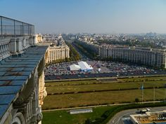Bucharest view from Palace of Parliament, Bucharest, RO (by Carpathianland)