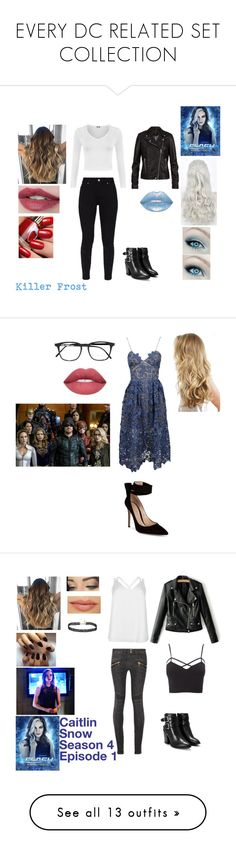 """""""EVERY DC RELATED SET COLLECTION"""" by thegirlinthehood on Polyvore featuring WearAll, Ted Baker, Nasty Gal, SET, theflash, KillerFrost, self-portrait, Gianvito Rossi, Yves Saint Laurent and supergirl"""
