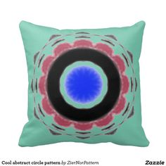 Cool abstract circle pattern pillow