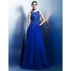 TS+Couture+Formal+Evening+Dress+-+Royal+Blue+A-line+Scoop+Floor-length+Chiffon+–+USD+$+139.99