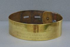 "Antique Dog Collar C1733 ""Kind Friend Direct Me Right I Pray"""
