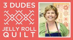 Amazing Jelly Roll Quilt Pattern by 3 Dudes! **This is a great method for Jelly Rolls! Jelly Roll Quilt Patterns, Machine Quilting Patterns, Quilt Block Patterns, Patchwork Patterns, Patchwork Quilting, Hexagon Quilt, Quilting Fabric, Missouri Quilt Tutorials, Quilting Tutorials