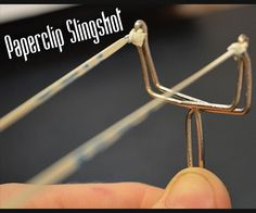 I show how to make a mini paperclip slingshot. It is very easy to make and only requires a paper clip, elastic band and pliers to bend the paper clip with. The paperclip is bent into a 'Y' shape and the elastic band is cut and tied to the fork. The projectiles are simple V darts that can be made by bending paperclip scraps or folding paper into a V shape. It only takes a few minutes to make and with enough practice you can become a fairly accurate shot. This is a fun project that ...