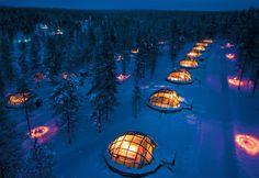 Hotel Uglu kakslauttanen, Finlandia.