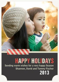 Personalized Holiday Cards, Washi Love Design