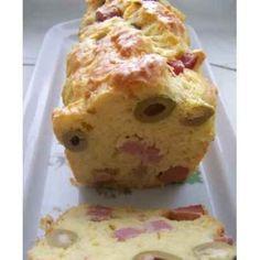 Cake con aceitunas y jamón