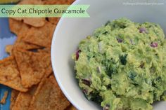 Copy Cat CHIPOTLE Guacamole Recipe!!
