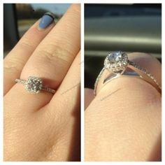 Women's Jewelry 10K White GOLD Over 925 Silver Diamond Engagement Ring #br925silverczjewelry #SolitairewithAccentsRing #WeddingAnniversaryEngagementBirthdayParty