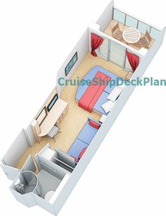 Liberty of the Seas Balcony cabin floor plan